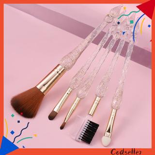 CODseller 5Pcs/Set Makeup Brush Multipurpose Ultra Soft Artificial Fiber Eyeshadow Foundation Blush Brush for Female