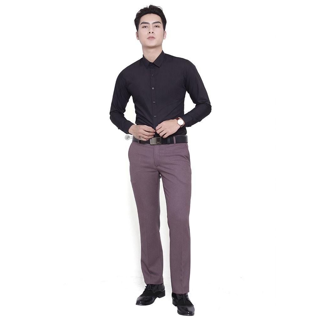 Áo sơ mi body thời trang SMARTMEN SM-02-GIFT10 (ĐEN)