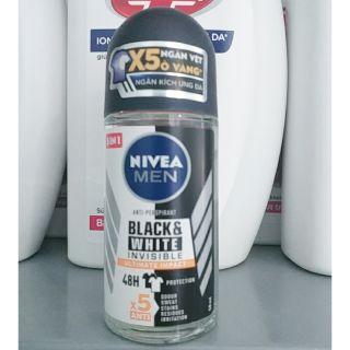 Lăn Khử Mùi Nivea Men Invisible For Black & White 50ml