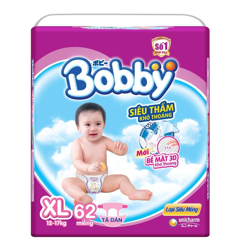 Tã dán Bobby Fresh siêu mỏng XL62 TA127