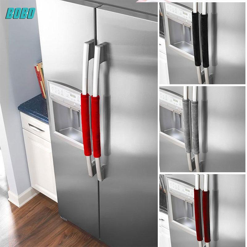 BoBo Economic Refrigerator Handle Cover 2PCS Dustproof Creative Cupboard