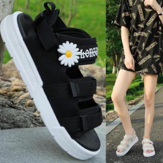 Sandal Nữ Thời Trang Ulzzang Quai Vải Chữ Ký Hoa Cúc Hót Nữ Tính Giày Sandan Nữ Cao Cấp