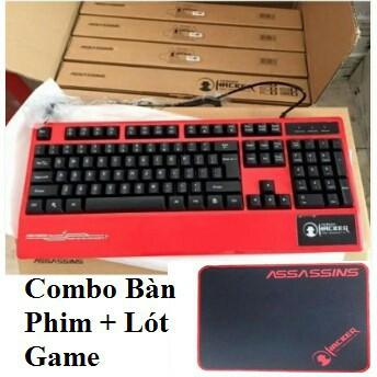 $$ Combo Bàn phím chống nước + Lót Game Assassins AK5000 Chính hãng
