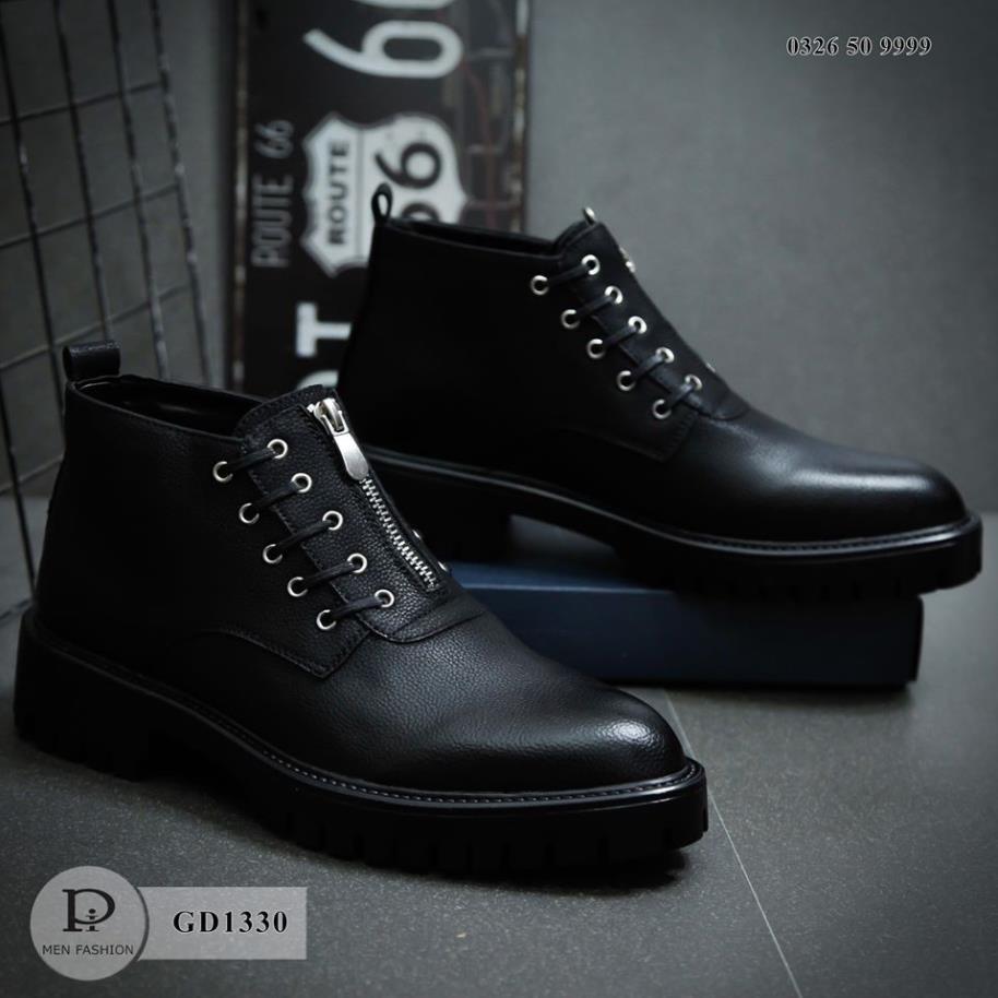 Giày Da Nam - Da Thật Hàng Siêu Đẹp - Khóa Trước Tiện Lợi - Thời Trang Cao Cấp GD1330 SneakerNam