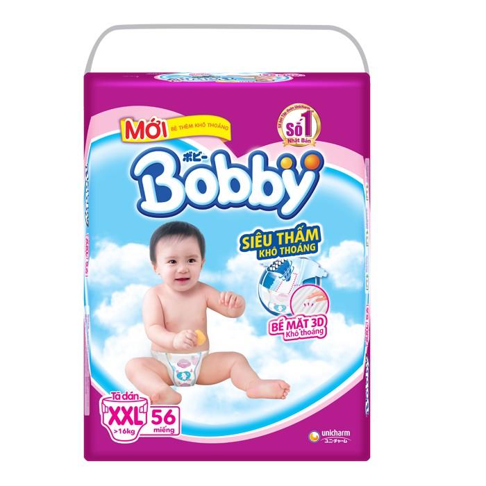 Bỉm dán Bobby siêu mỏng XXL56 (>16kg)