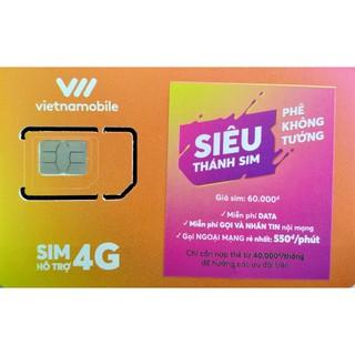 Siêu Thánh Sim Vietnamobile TKC 0đ Free Internet, Free Gọi Nội Mạng, Gọi Ngoại Mạng 550đ/Phút