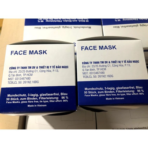 Hộp Bảo Cái Ngọc Y Trang Rẻ 1 Face Loại Mask Tế Khẩu 50