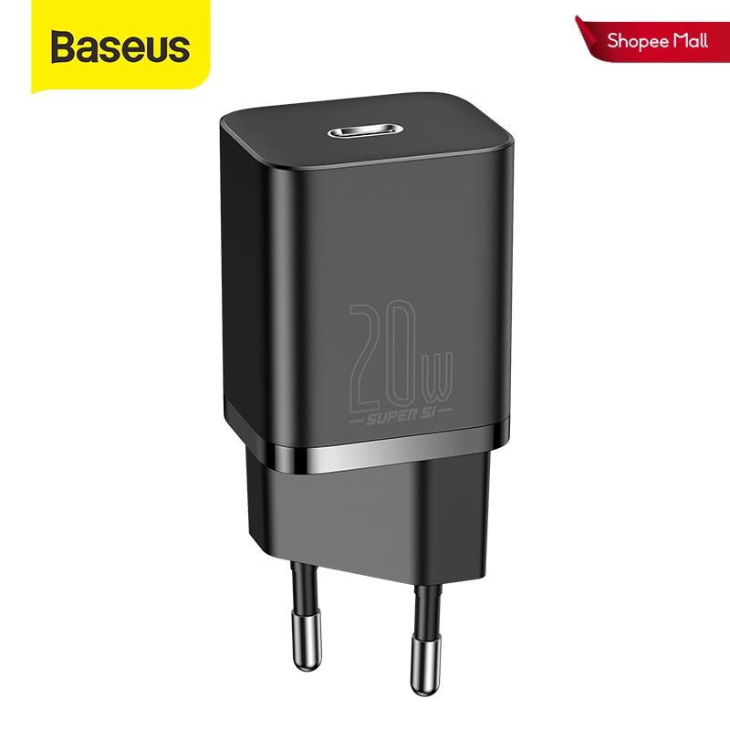 Củ Sạc Nhanh Baseus 20W Siêu Si Mini USB C Hỗ Trợ QC3.0 PD Cho Phone 12