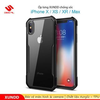 [Mã ELFLASH5 giảm 20K đơn 50K] Ốp lưng XUNDD iPhone X / XS / XR / Max, Mặt lưng trong, Viền TPU, Chống sốc