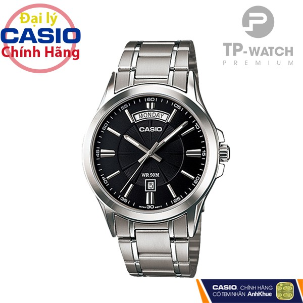 Đồng Hồ Nam Casio Standard MTP-1381D-1AVDF Chính Hãng   Casio Standard MTP-1381D-1A