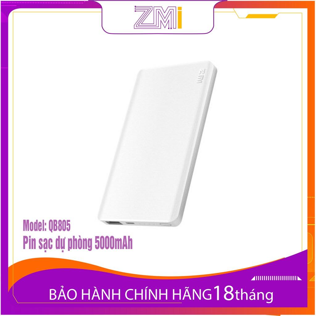 Sạc Dự Phòng Xiaomi ZMI QB805 5000mAh có sạc nhanh