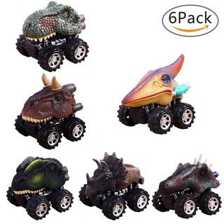 6pcs/set Mini Dinosaur Toys For Kids Pull Back Dinosaur Cars Children Gifts