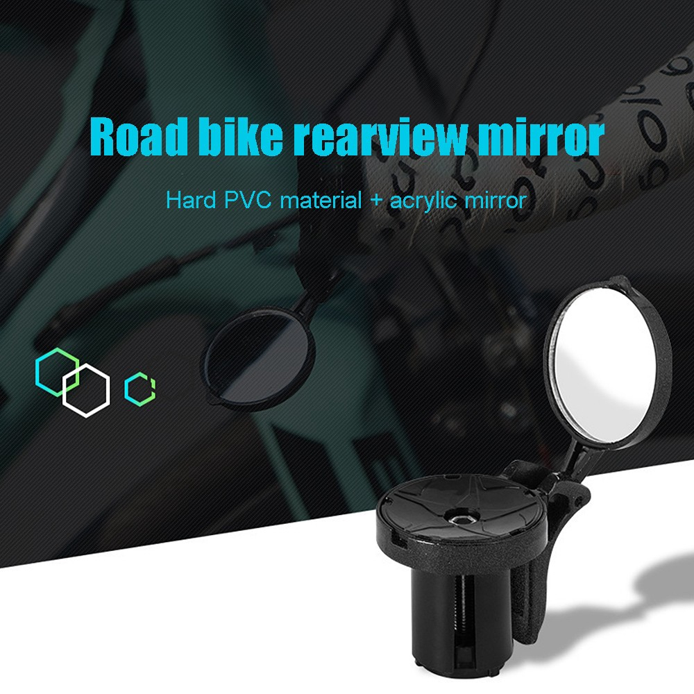 Bike Handlebar End Mirrors Cycling Back View Mirror For MTB Road Riding Racing