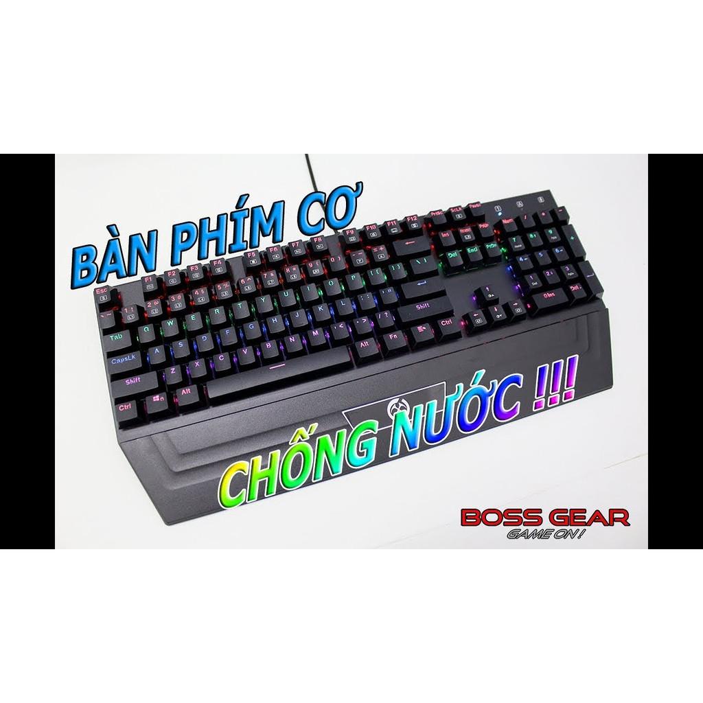 bàn phím cơ quang học gft g2000 led rainbow full 104 phím blue switch Giá chỉ 550.000₫