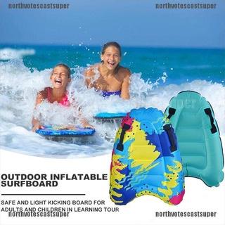 Northvotescastsuper 1PCS Outdoor Inflatable Surfboard Buoy Kickboard Kids Safe Sea Surfing Board NVCS