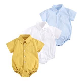 Áo liền quần Sanlutoz bằng cotton phong cách mùa hè cho bé trai