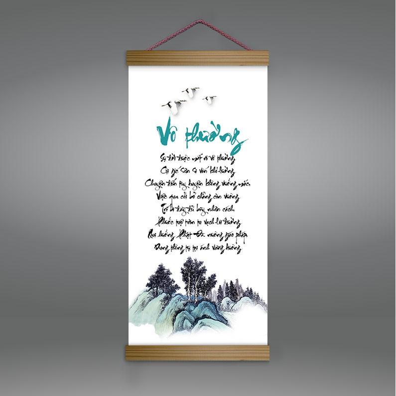 """Tranh canvas thả nẹp gỗ """"Vô Thường"""" T4022"""