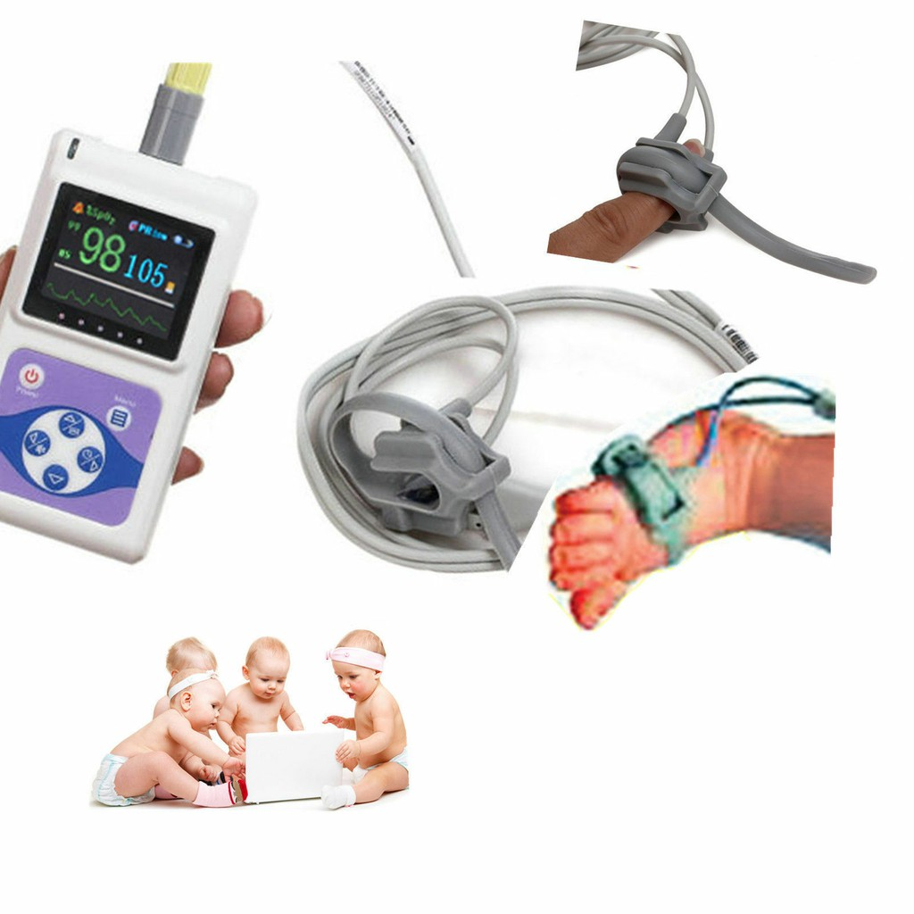 Máy đo SPO2 cho trẻ sơ sinh, trẻ em và nhịp tim CONTEC CMS60D - có chức năng báo động