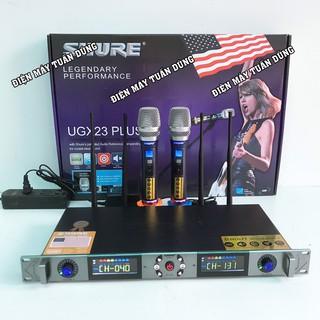 Micro karaoke không dây cao cấp SHURE UGX 23PLUS - hàng loại 1 new 2021