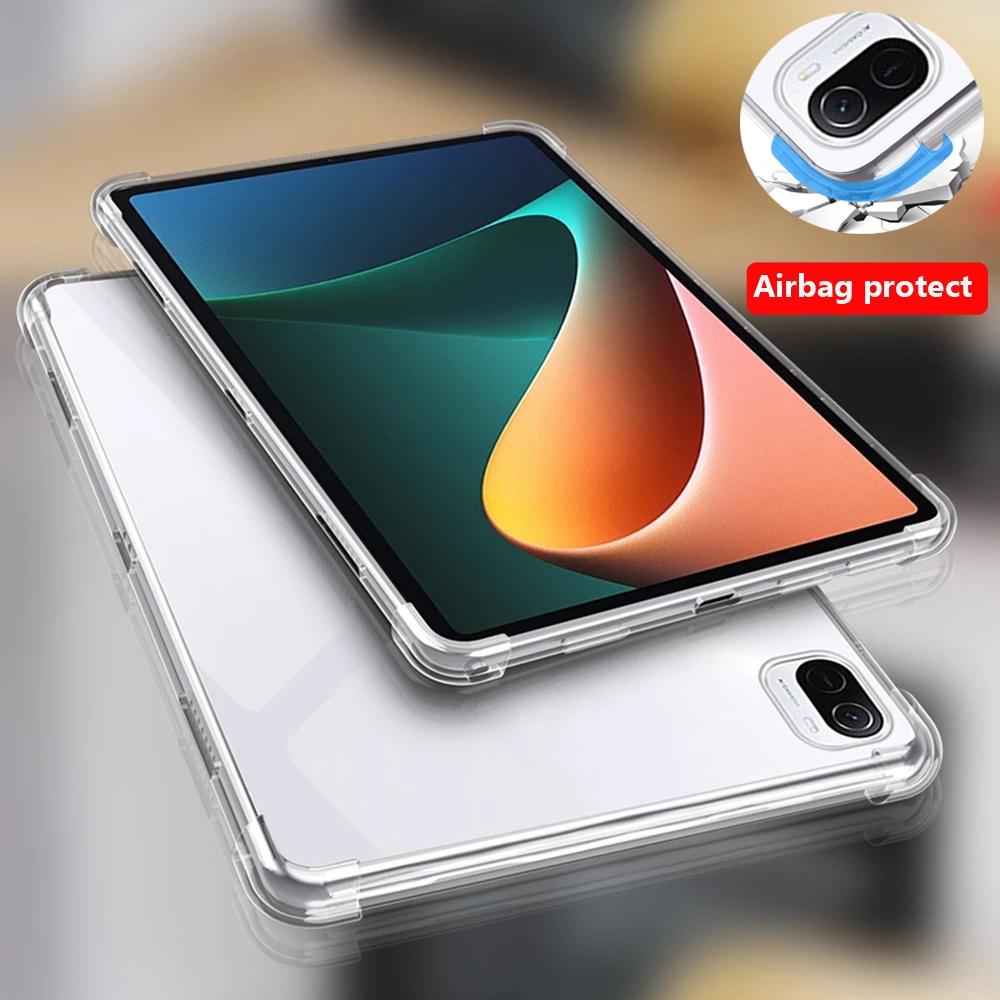 Ốp Máy Tính Bảng Tpu Silicon Trong Suốt Chống Sốc Cho Xiaomi Pad 5 Pro 5g  Mipad 5 11 Inch 2021 Mi Pad 4 Plus 3 2 1 - Ốp Lưng Máy Tính Bảng