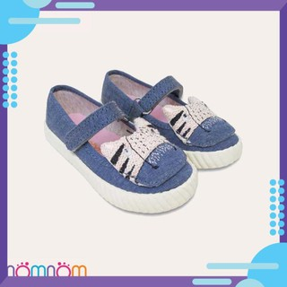 [HOT] Giày búp bê cho bé gái NomNom Ng1602 thêu hình mèo