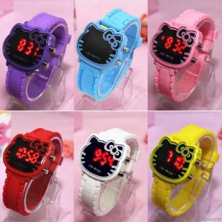 Cute Baby Kids Hello Kitty Anti-Air Model Electronic Watch