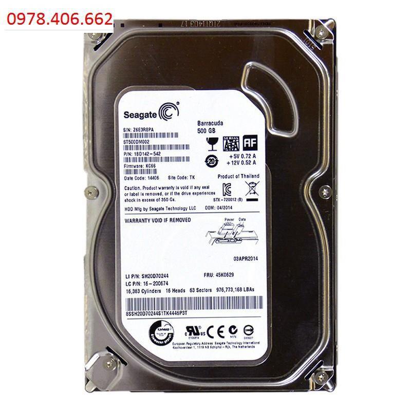 Ổ Cứng HDD Seagate 500GB SATA 3 Giá chỉ 365.000₫