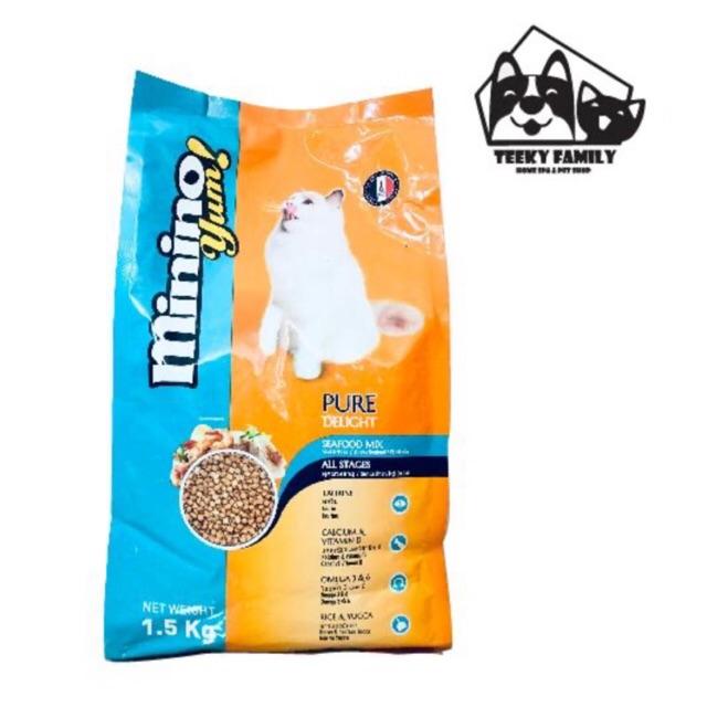 [Mã PET0901 giảm 9K đơn 99K] Thức Ăn Hạt Cho Mèo Minino Yum 1.5 KG