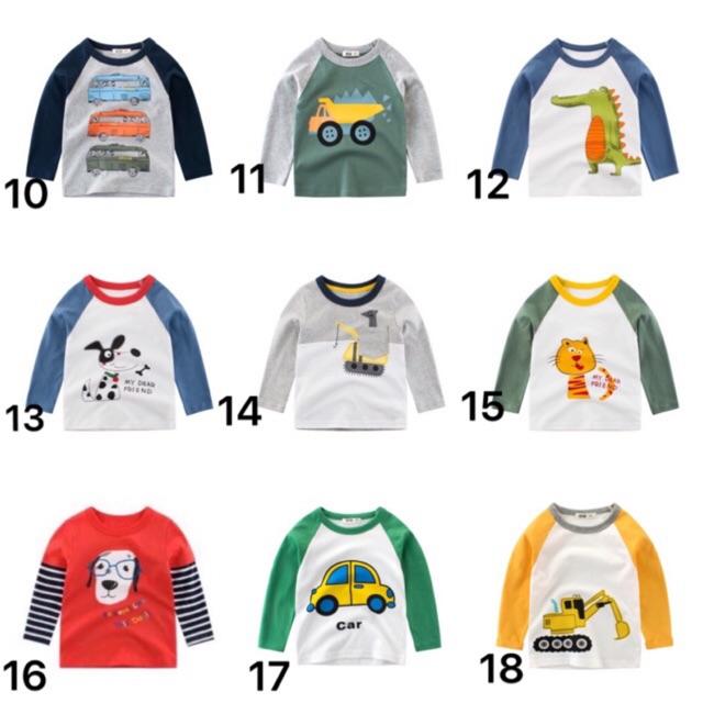 Áo 27 kids dài tay mùa thu cho bé trai (màu 1-10)