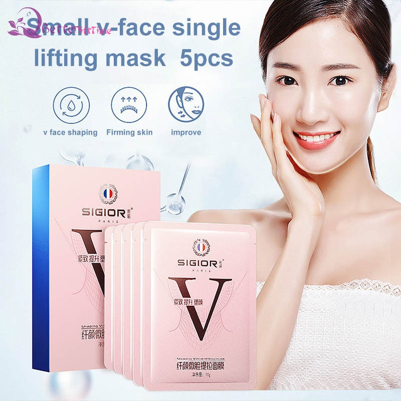 BLT 5 Pcs V-Shaped Slimming Chin Face Mask Moisturizing Face Lifting Firming Mask