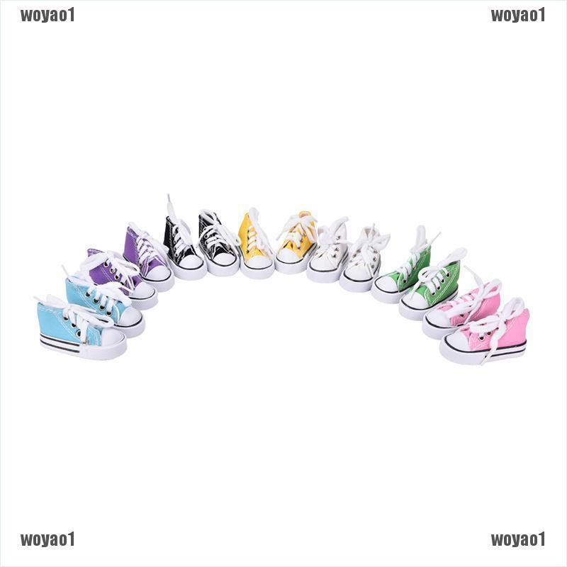 Giày vải thể thao mini 7.5cm 16inch tiện lợi dành cho búp bê