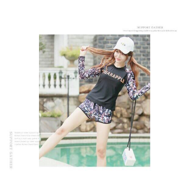 bikini đồ bơi phong cách Hàn Quốc áo dài tay quần đùi có size đại Dành cho người béo