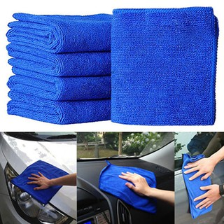 5Pcs Car Auto Soft Microfiber Absorbent Towel Cleaning Wash Cloth Duster