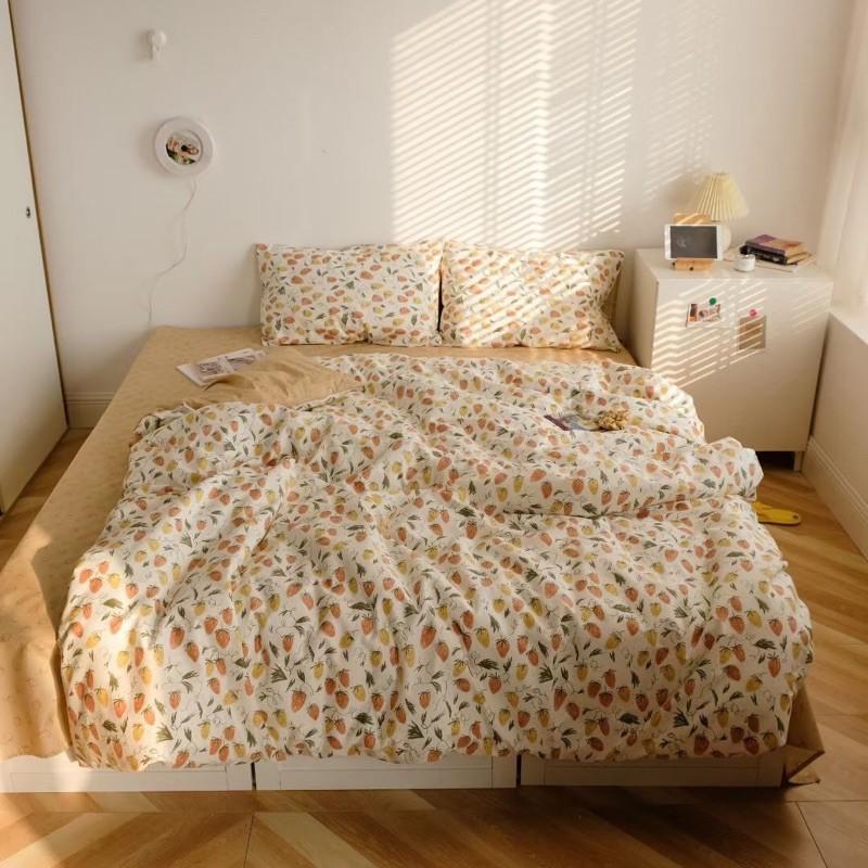 Cotton DÂU BE (kèm 4 mẫu khác) - bộ vỏ chăn ga giường