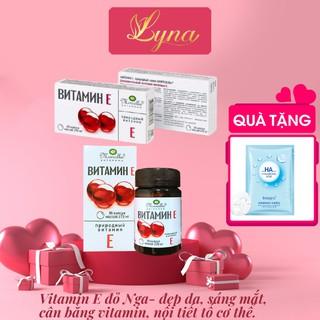 Vitamin e vỉ Nga, vitamin E270mg giúp đẹp da, sáng mắt, cân bằng nội tiết tố. thumbnail