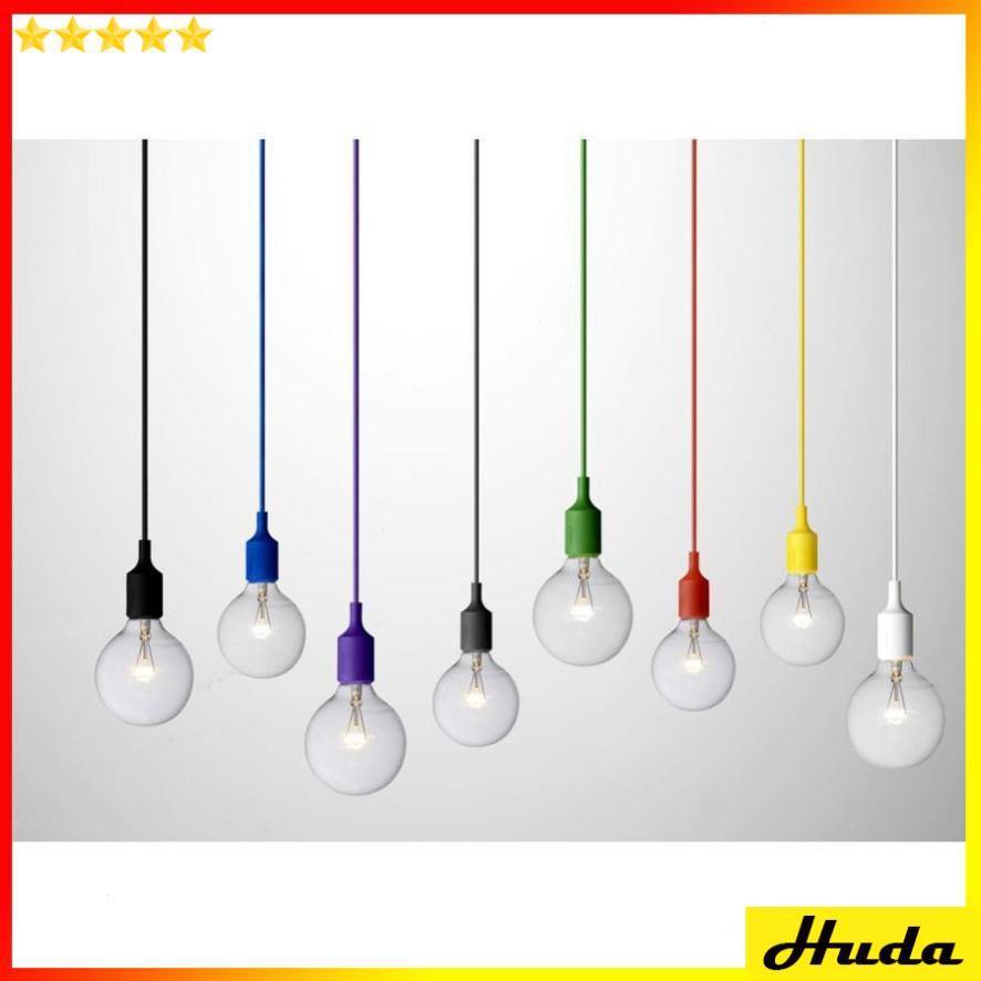 Bộ 6 dây đèn thả nhiều màu sắc E27 - Không bao gồm bóng