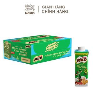 Hình ảnh [Mua 12 tặng 12] Thùng 24 hộp sữa lúa mạch ngũ cốc Nestlé MILO teen bữa sáng ít đường 200 ml/hộp-1