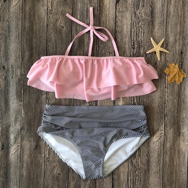 Bikini hàn quốc đi biển mẫu mới đồ bơi dễ thương chấm bi
