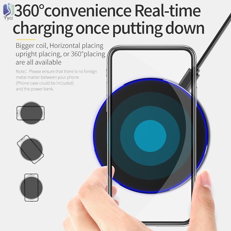 Đế Sạc Không Dây Qi 9v 10w Cho Iphone Samsung