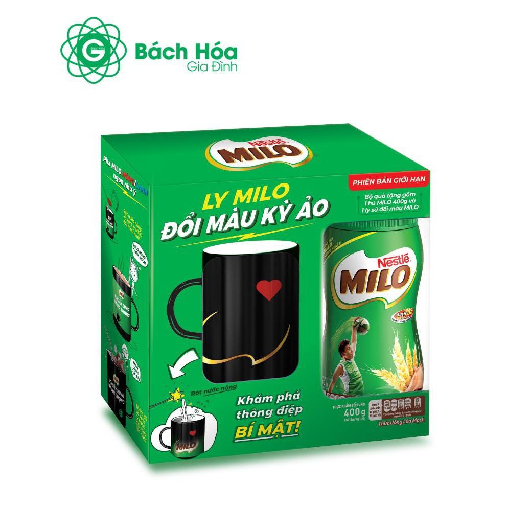 Combo 2 hộp Milo hũ 400g tặng ly sứ đổi màu kỳ ảo