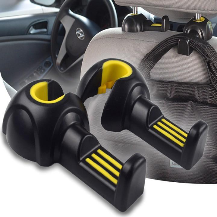 Bộ 2 chiếc móc treo đồ sau ghế xe hơi, ô tô: 3R-2112