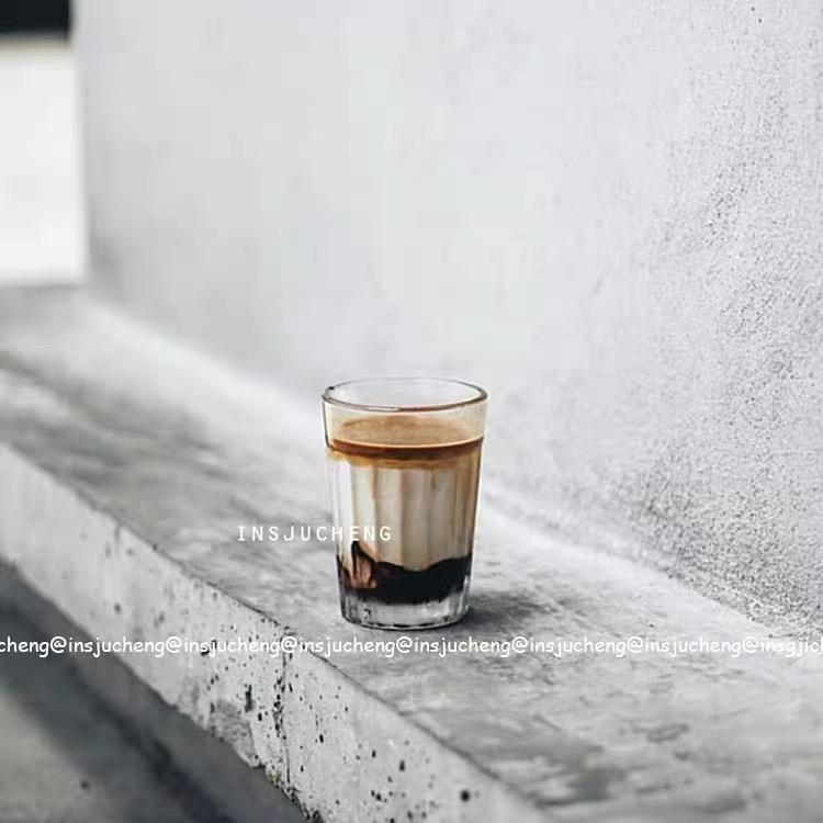 Cốc Thủy Tinh Uống Cà Phê Latte Kiểu Mỹ Tiện Dụng