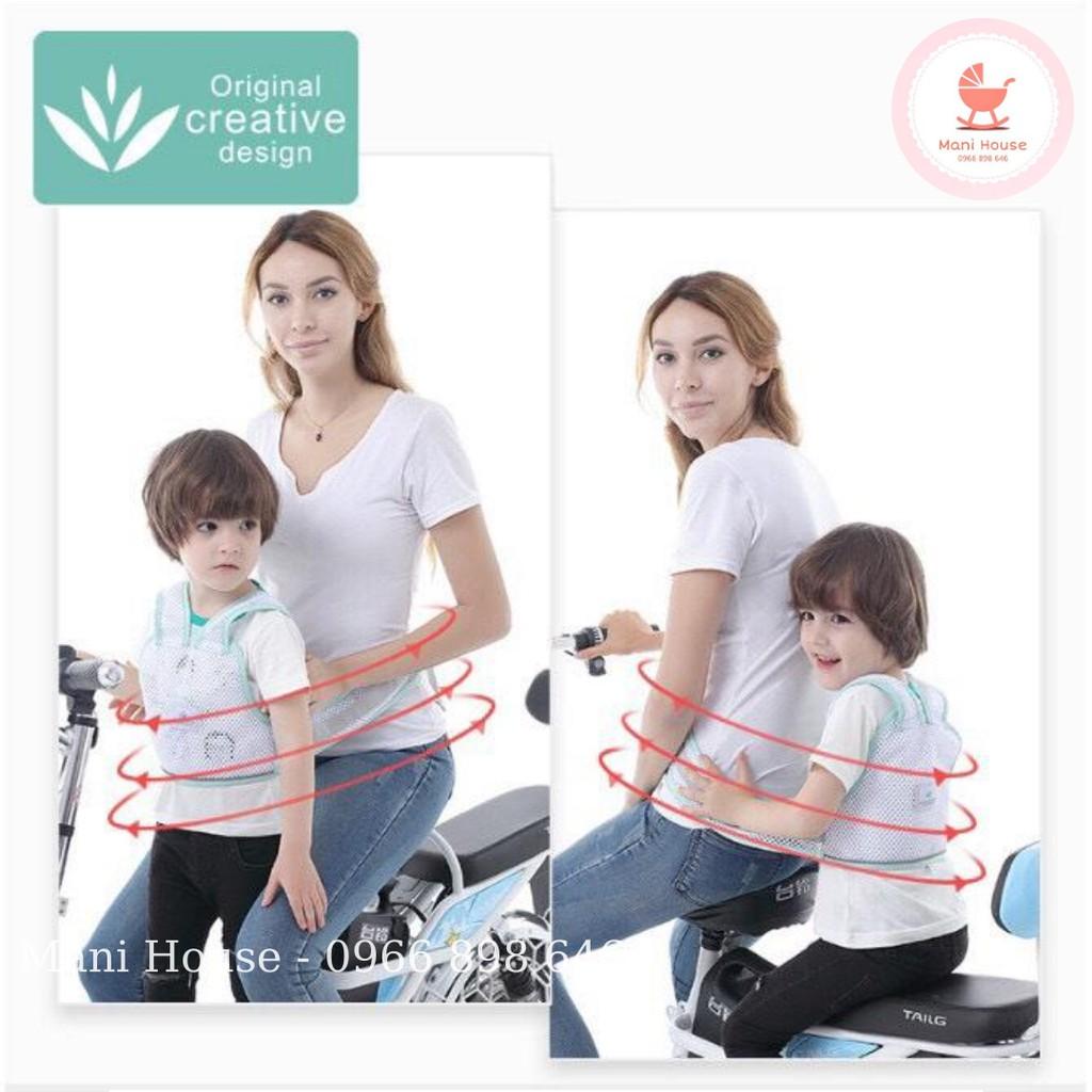 [Mã 267FMCGSALE giảm 8% đơn 500K] Đai xe máy dạng lưới 3D thoáng khí an toàn cho bé