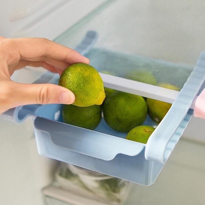 Khay phụ đựng đồ kẹp tủ lạnh bằng nhựa lúa mạch thaylamua