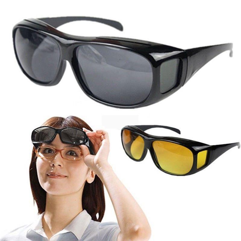 Tbvn Unisex HD Night Vision Driving Sunglasses nice Over Wrap Around Glasses Fashion Fantasy
