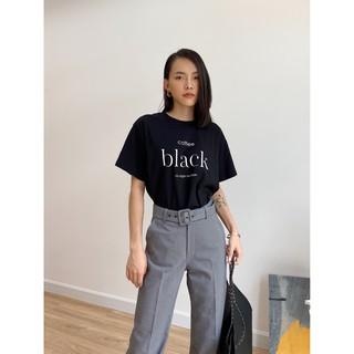 Áo thun đen chữ Coffee Black EDINI - A1185 thumbnail