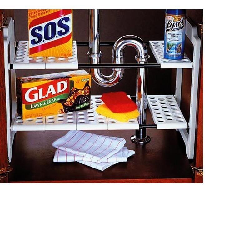 Kệ xếp 2 tầng để đồ nhà bếp đa năng Clever Mart - 2889078 , 121038818 , 322_121038818 , 145000 , Ke-xep-2-tang-de-do-nha-bep-da-nang-Clever-Mart-322_121038818 , shopee.vn , Kệ xếp 2 tầng để đồ nhà bếp đa năng Clever Mart