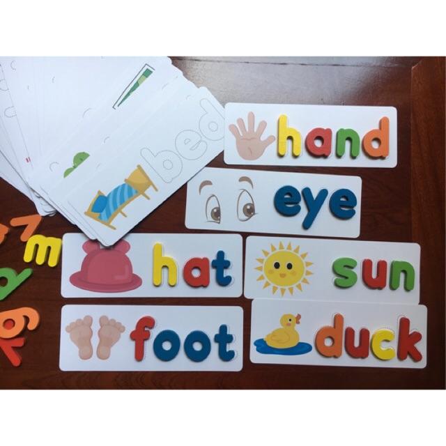 Spelling game – Học chữ Tiếng Anh bằng gỗ cho bé