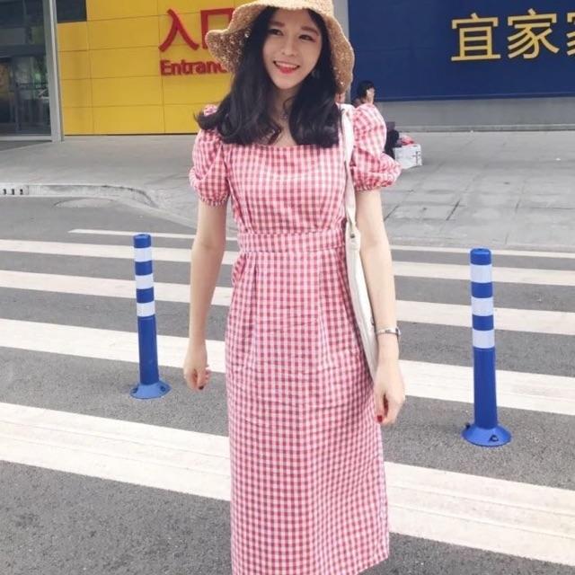 Váy midi suông tay bồng kẻ caro Hàn quốc - 2739568 , 1217777943 , 322_1217777943 , 340000 , Vay-midi-suong-tay-bong-ke-caro-Han-quoc-322_1217777943 , shopee.vn , Váy midi suông tay bồng kẻ caro Hàn quốc