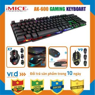 [GIẢM GIÁ SỐC] Bàn phím, Chuô t, bàn phím giả cơ gaming iMICE AK-600, chuyên Game, đèn nền LED đổi màu BH 12T thumbnail
